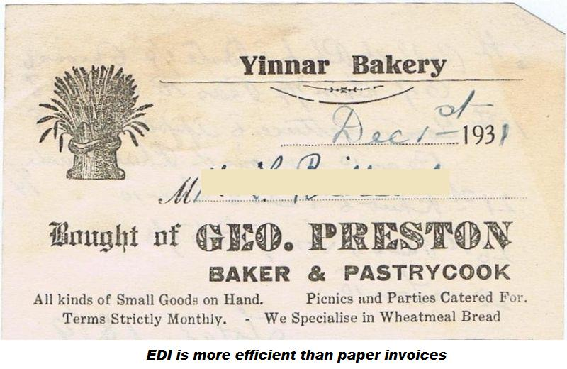 Old fashioned paper invoice